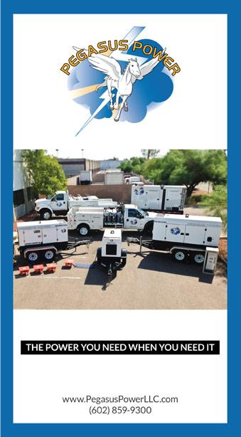Front cover of Pegasus Power LLC's tri-fold brochure