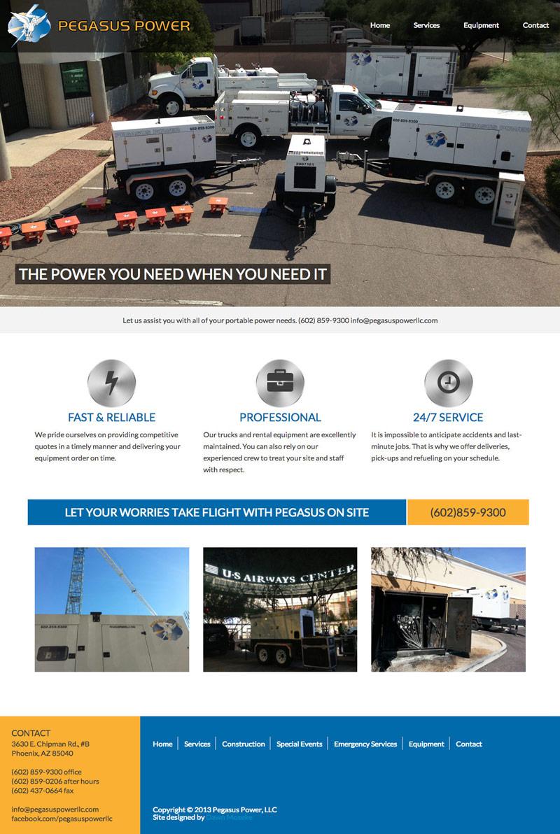 Pegsus Power home page